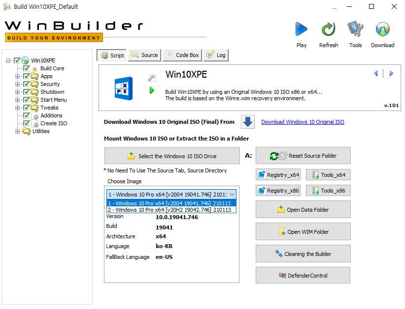 2021-01-13 수요일 정기 업데이트 통합 PRO x64 2개 - Windows 10 버전 2004 + 버전 20H2 누적 업데이트 KB4598242 (OS 빌드 19041.746 + 19042.746) - PE 만들기 테스트 2021-01-13_045629.jpg
