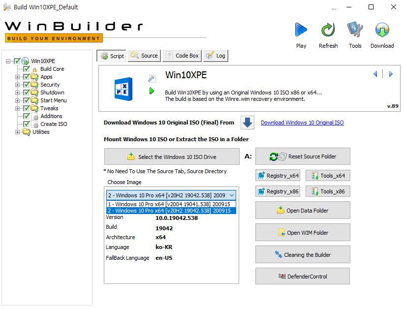 2020-09-15 업데이트 통합 PRO x64 2개 - Windows 10 버전 2004 + 버전 20H2 누적 업데이트 KB4577063 (OS 빌드 19041.538 + 19042.538) - PE 만들기 테스트 2020-09-15_095321.jpg