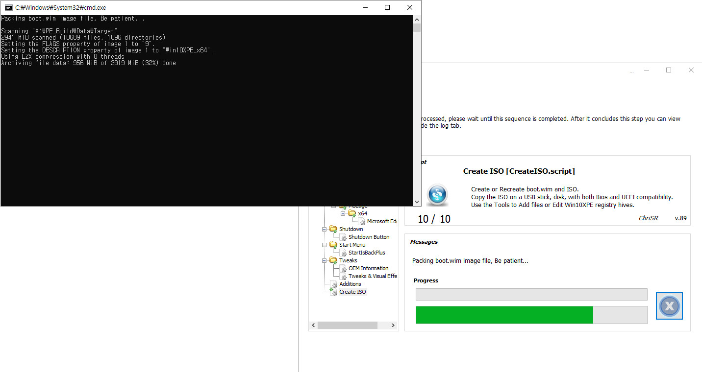 2020-09-15 업데이트 통합 PRO x64 2개 - Windows 10 버전 2004 + 버전 20H2 누적 업데이트 KB4577063 (OS 빌드 19041.538 + 19042.538) - PE 만들기 테스트 2 2020-09-15_101007.jpg
