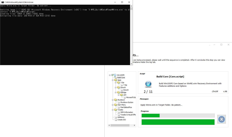 2020-11-14 토요일 [프리뷰] 통합 PRO x64 2개 - Windows 10 버전 2004 + 버전 20H2 누적 업데이트 KB4586853 (OS 빌드 19041.661 + 19042.661) v2 - PE 만들기 테스트 2020-11-14_114034.jpg