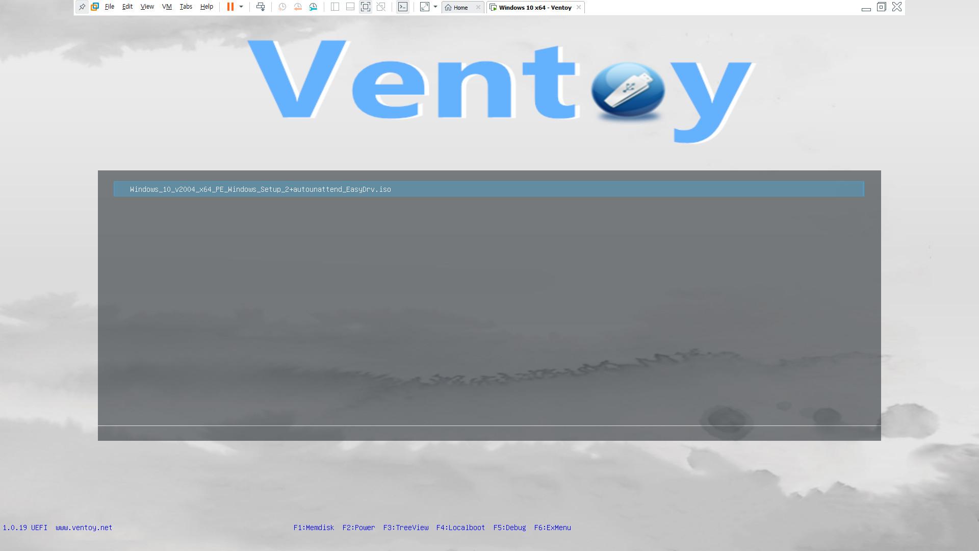ventoy-1.0.19 으로 usb 멀티 부팅 테스트 - v2004 뼈대 2탄 테스트 - ISO로 테스트 2020-08-25_161713.jpg