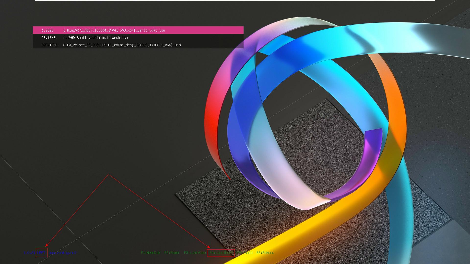 AIO Boot와 Ventoy 하나의 디스크에 합치기 - bios 모드 연동 문제 해결 - Ventoy 기준으로 AIO Boot는 해결함 2020-09-18_074659.jpg