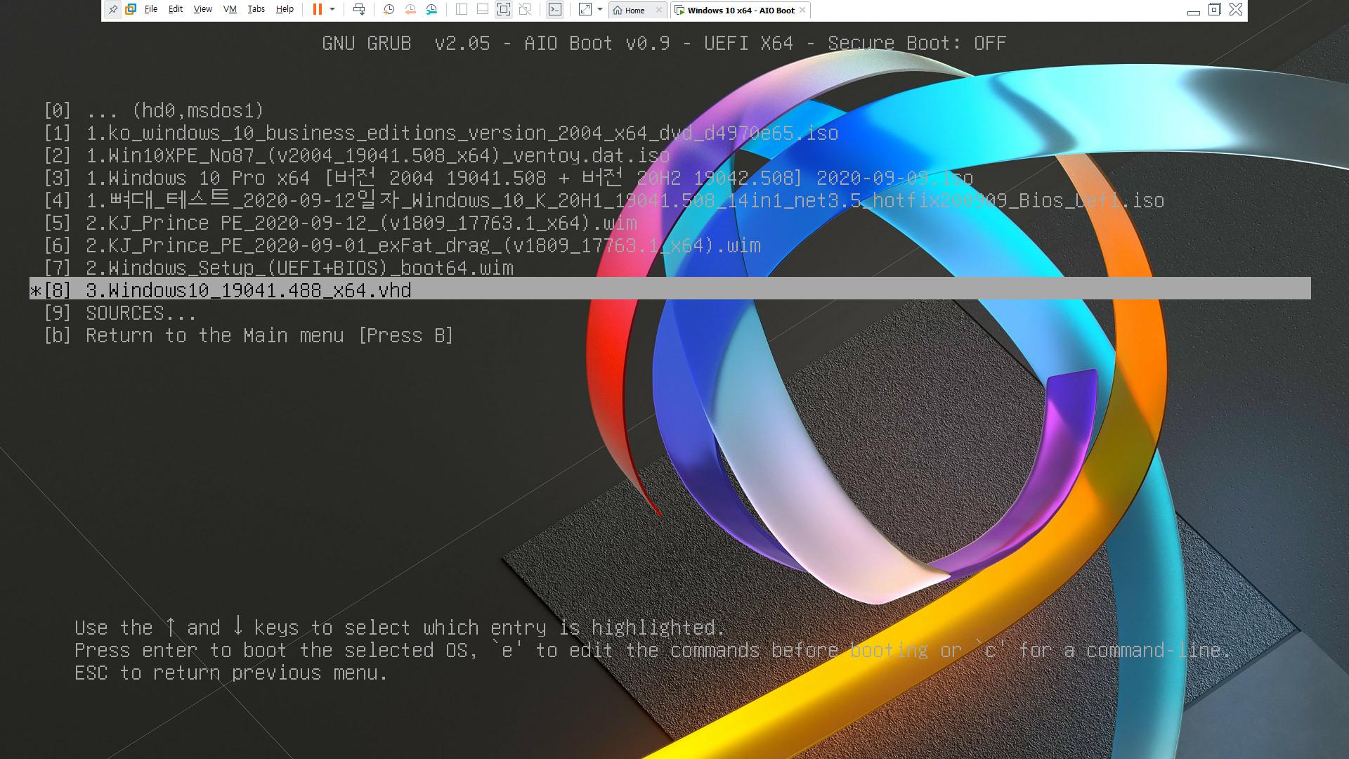 AIO Boot의 grubenv와 기타 설정하기2.bat 으로 설정 자동화하기 - 폰트 파일과 배경 사진 복사 가능 2020-09-13_131644.jpg