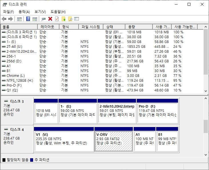 UEFI 모드 윈도우 부팅하려는데 뜬금없이 XP 설치 화면이 나왔습니다 - 다른 디스크에 비상용 UEFI 모드 PE 부팅해서 bootice.exe의 UEFI 탭에서 해결했습니다 2020-11-13_135305.jpg