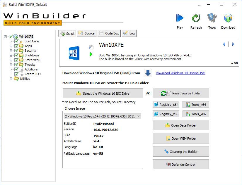 2020-11-11 수요일 정기 업데이트 통합 PRO x64 2개 - Windows 10 버전 2004 + 버전 20H2 누적 업데이트 KB4586781 (OS 빌드 19041.630 + 19042.630) - PE 만들기 테스트 2020-11-11_050226.jpg