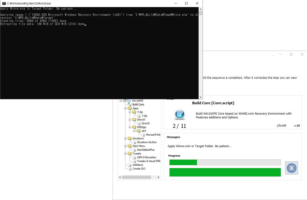 2020-11-11 수요일 정기 업데이트 통합 PRO x64 2개 - Windows 10 버전 2004 + 버전 20H2 누적 업데이트 KB4586781 (OS 빌드 19041.630 + 19042.630) - PE 만들기 테스트 2020-11-11_050352.jpg