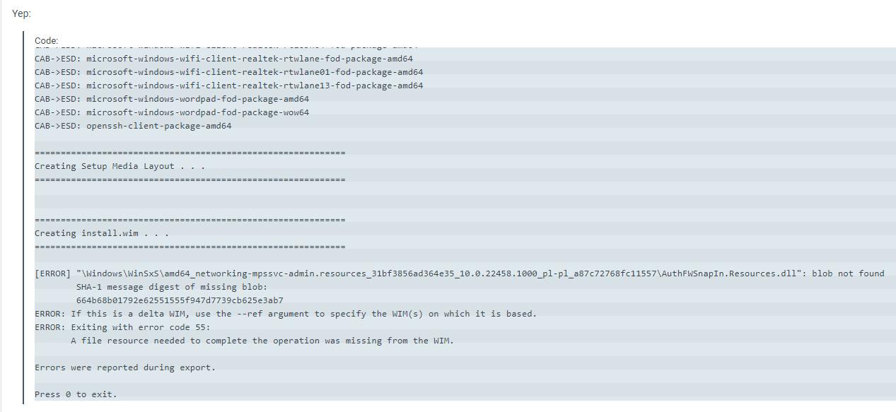 Windows 11 인사이더 프리뷰 - 버전 Dev (OS 빌드 22458.1000) 나왔네요 - 개발자 채널 - MDL 사이트의 댓글에도 UUP를 ISO로 만드는데 오류가 생긴다는 댓글들이 있습니다 2021-09-16_064614.jpg
