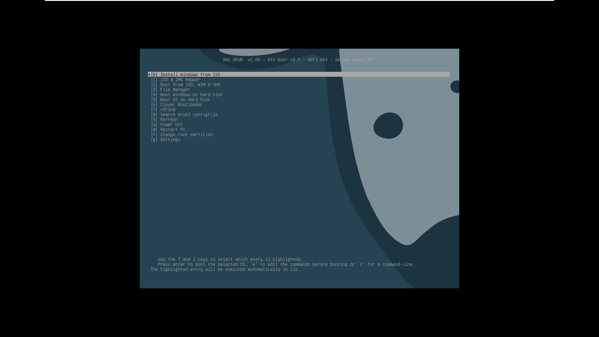 Ventoy 제가 올린 외부 설정 파일 - AIO Boot로 전환 잘 됩니다. UEFI 모드 2020-09-26_180139.jpg