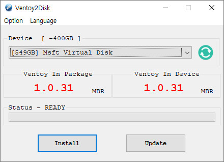 Ventoy는 레거시 부팅하시면 128GB 내로 설정하셔야 됩니다 2020-12-25_091504.jpg