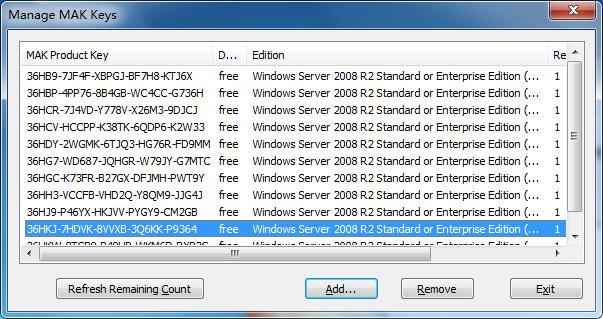 자유 게시판 - windows 2008 R2 MAK KEY 발견!