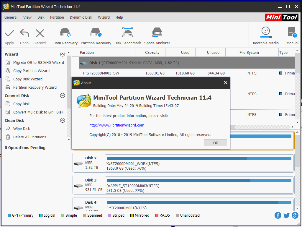 MiniTool Partition Wizard Server Edition 7 7 Portable