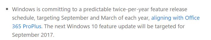 윈도10 은 앞으로 3월과 9월에 나온다고 합니다. 정식은 4월과 10월이겠네요 2017-04-21_113101.jpg