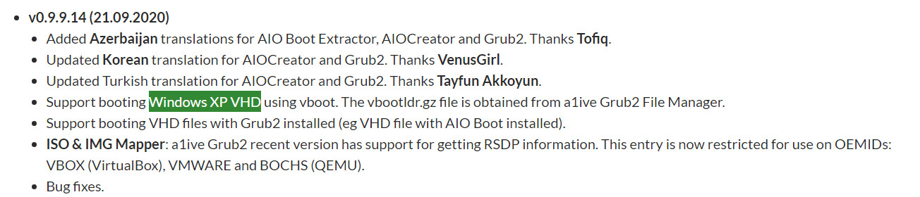 AIO Boot가 v0.9.9.14 부터 XP.vhd 부팅 지원해서 테스트 - 변경 내역 2020-09-23_180540.jpg