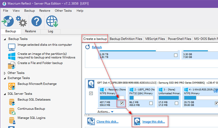Macrium Reflect 윈도 백업 프로그램 - 전체 백업 방법 - 파티션 백업 2018-11-13_173812.jpg