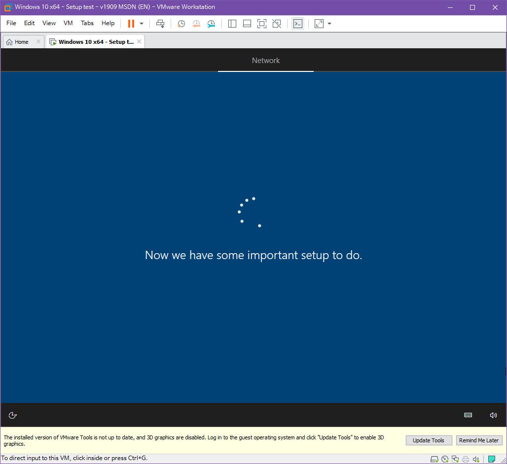 Windows 10 버전 1909 (OS빌드 18363.418) 코드네임 19H2 첫 MSDN 영문판 나왔네요 - 설치 테스트 2019-10-17_083354.jpg