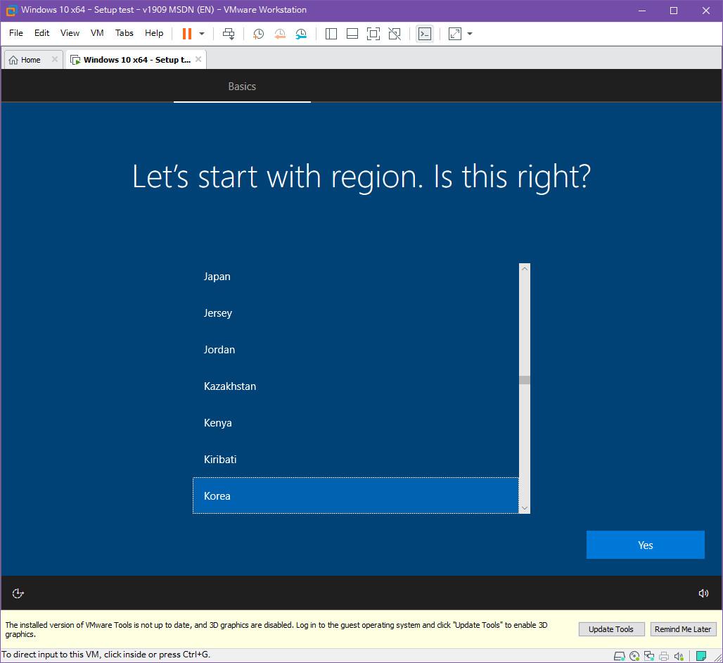 Windows 10 버전 1909 (OS빌드 18363.418) 코드네임 19H2 첫 MSDN 영문판 나왔네요 - 설치 테스트 2019-10-17_083301.jpg