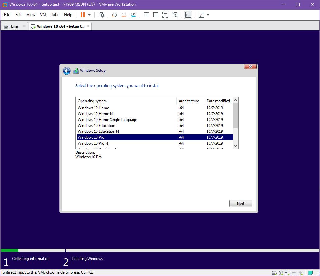 Windows 10 버전 1909 (OS빌드 18363.418) 코드네임 19H2 첫 MSDN 영문판 나왔네요 - 설치 테스트 2019-10-17_082752.jpg