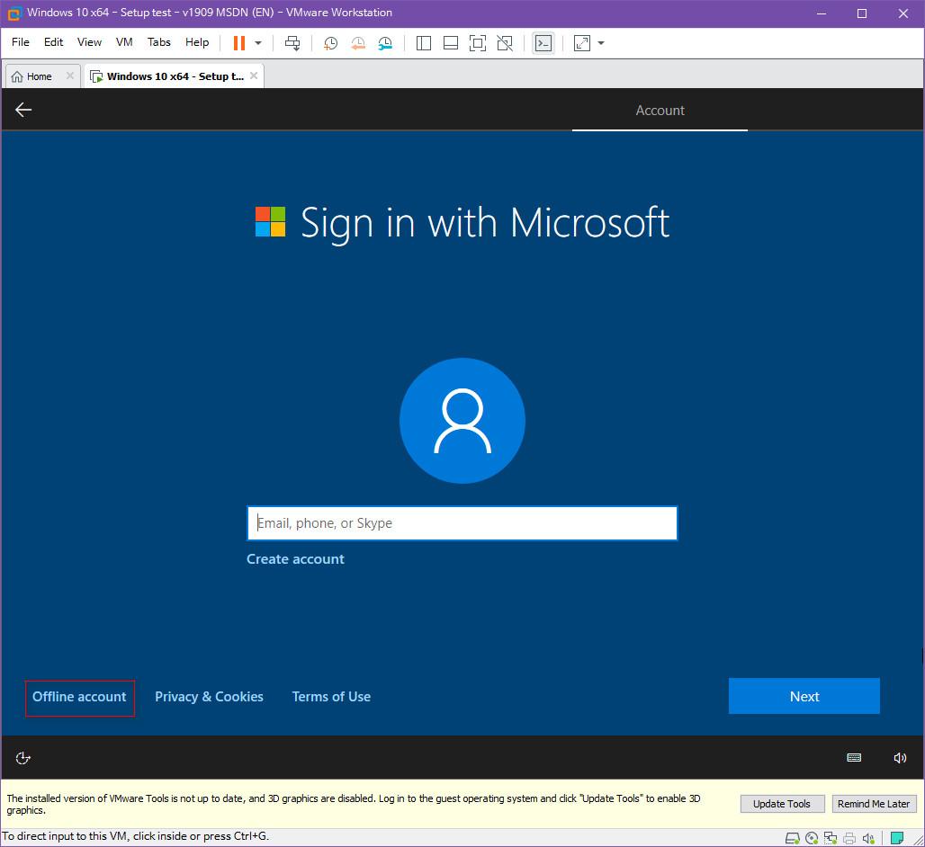 Windows 10 버전 1909 (OS빌드 18363.418) 코드네임 19H2 첫 MSDN 영문판 나왔네요 - 설치 테스트 2019-10-17_083456.jpg