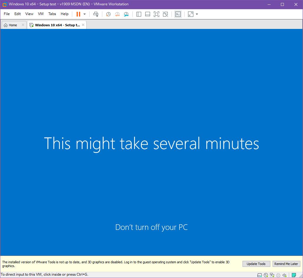 Windows 10 버전 1909 (OS빌드 18363.418) 코드네임 19H2 첫 MSDN 영문판 나왔네요 - 설치 테스트 2019-10-17_083624.jpg