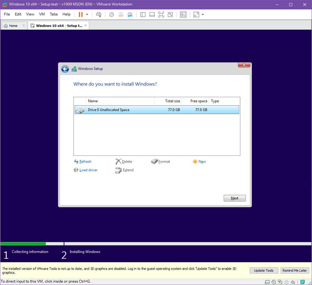 Windows 10 버전 1909 (OS빌드 18363.418) 코드네임 19H2 첫 MSDN 영문판 나왔네요 - 설치 테스트 2019-10-17_082909.jpg