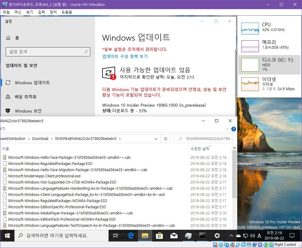 윈도10 20H1 인사이더 프리뷰 18965.1000 빌드 나왔네요 2019-08-22_021900.jpg