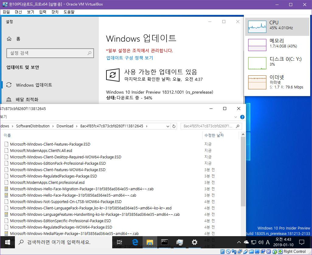 윈도10 19H1 인사이더 프리뷰 18312.1001 빌드 나왔네요 2019-01-10_044310.jpg